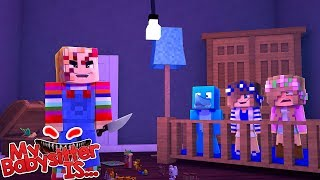 Video MY BABYSITTER IS... CHUCKY !!!! Minecraft w/ Little kelly , Sharky and Little Carly MP3, 3GP, MP4, WEBM, AVI, FLV Juli 2018
