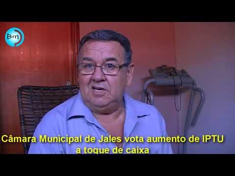 Jales - EX-vereador Gilbertão diz que Câmara aprovou projeto de aumento de IPTU a toque de caixa; nunca na história de Jales Projeto dessa natureza foi aprovado em primeira discussão.