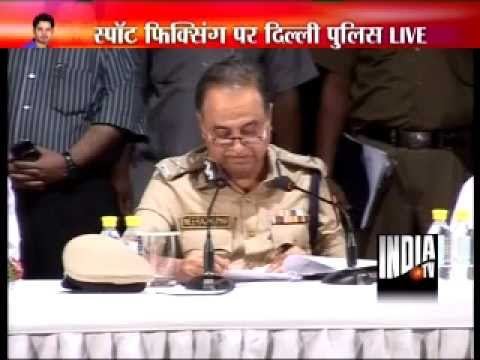 controversy - Delhi Police Commissioner Neeraj Kumar addresses media on IPL 2013 spot-fixing controversy For more content go to http://http://www.indiatvnews.com/video/ Fo...