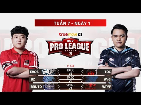 EVOS vs TDC | BZ vs MIG | BRUTD vs WPF - Tuần 7 Ngày 1 - RPL Thái Lan Mùa 3 - Thời lượng: 3:58:06.