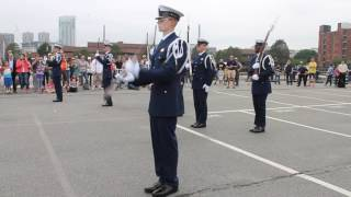 USCG Silent Drill Team at the Charleston Navy Yard for Sail Boston 2017.