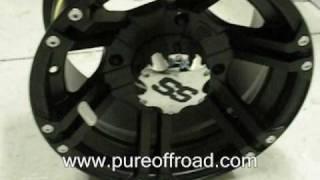10. ITP SS212 ATV Wheels, Black