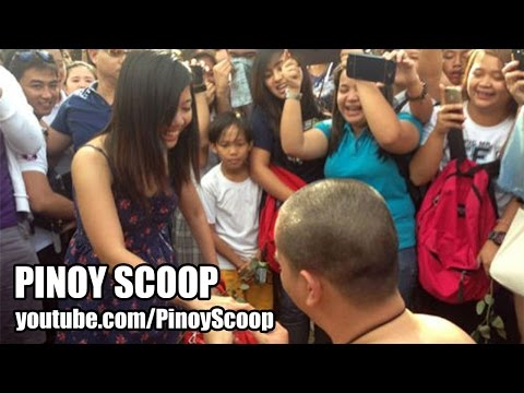 oblation run - A participant of the Oblation Run named Patrick Laxamana in Angeles City, Pampanga surprised his girlfriend, Krizzy Martinez and the crowd when he proposed n...