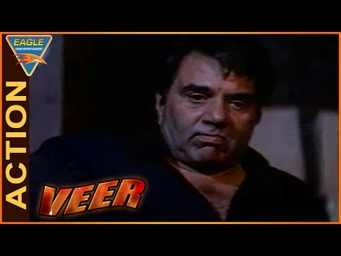 Veer Movie || Dharmendra Fight With Gaint Man Action Scene || Dharmendra || Eagle Hindi Movies