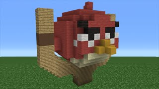 Minecraft Tutorial: How To Make A Red Angry Bird House (Angry Birds Movie)