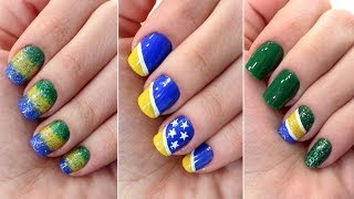 3 Unhas Decoradas Para A Copa Do Mundo - Brasil
