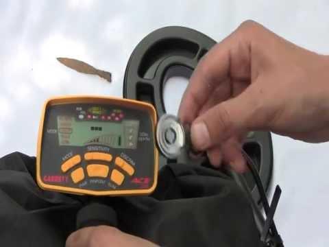 Металлоискатель Garrett ACE 250 настройка на поиск кольца