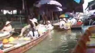 Floating Market In Bangkok. Thailand