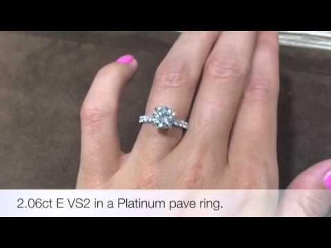 Solitaire Diamond Engagement Ring (2.06ct E-VS2)