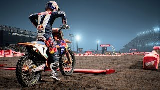 Monster Energy Supercross - KTM 450 SX-F - Test Ride Gameplay (PC HD) [1080p60FPS]