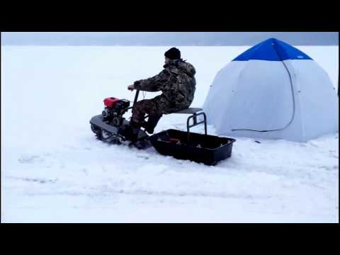 рыбалка и снегоход