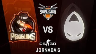 PENGUINS VS X6TENCE - MAPA 1 - SUPERLIGA ORANGE - #SUPERLIGAORANGECSGO6