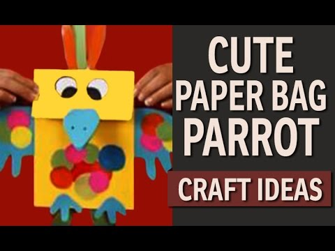How to make a Paper Bag – DIY Animal Craft ideas (English)