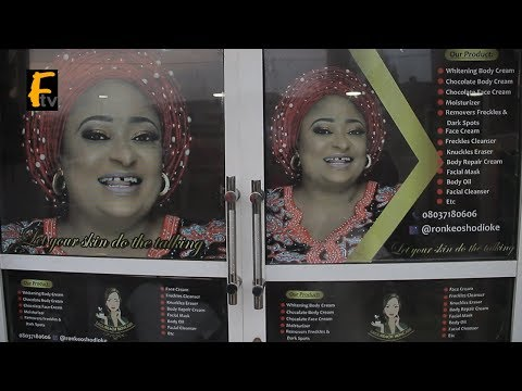 RONKE OSHODI OKE DID IT AGAIN AS SHE OPEN A NEW BEAUTY STORE AT OGBA LAGOS