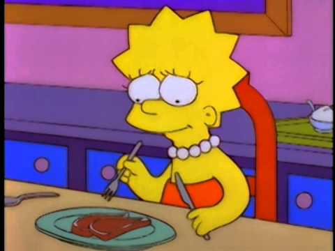 "lisa simpson ""la vegetariana"""