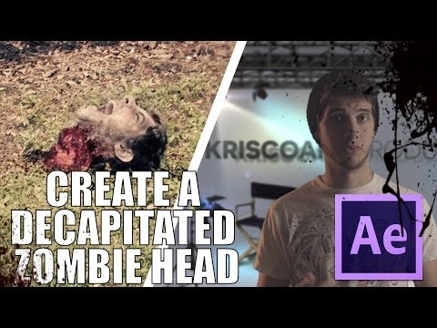 CREATE A DECAPITATED ZOMBIE HEAD IN AFTER EFFECTS ! - MarchingDead