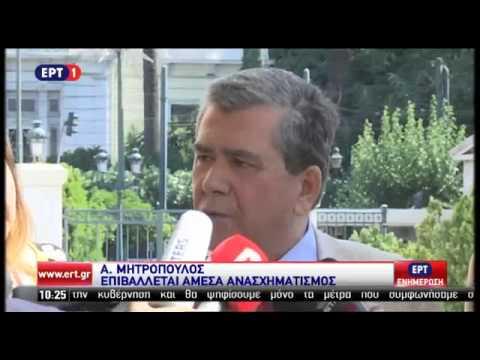 Δηλώσεις του αντιπροέδρου της Βουλής Αλέξη Μητρόπουλου