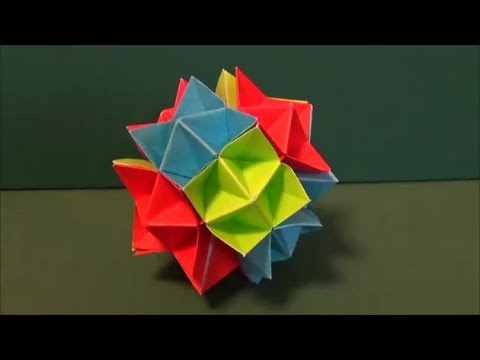 Kusudama Tutorial - 016 -- Spike ball