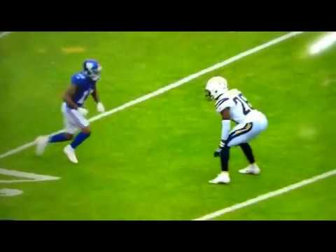 Odell Beckham Jr. INJURY - BREAKS LEG carted off field (видео)