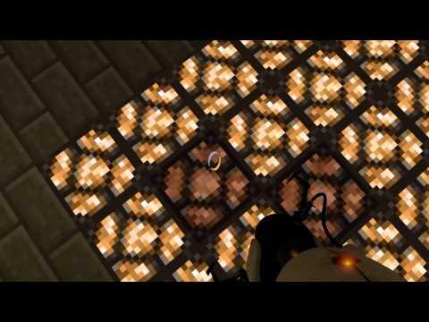 Portal 2 - Minecraft в Portal 2 #4 [Карта] (Схожу с ума)