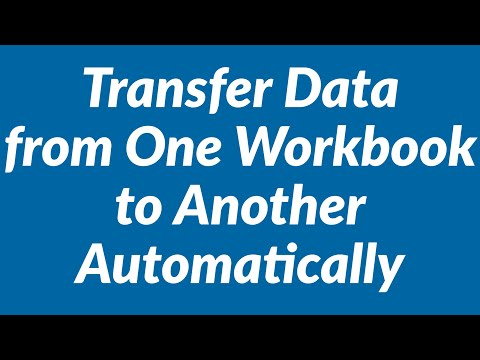 How to transfer data from one workbook to another automatically using Excel VBA