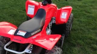 8. New 2015 Honda TRX90X walk around and start up