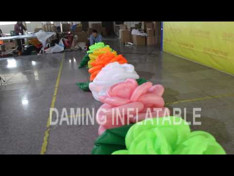 6m flower chain with LED lights inside for wedding party decoration