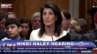 Nikki Haley Explains Her Position on NOT Accepting Refugees From Syria - Senate Confirmation Hearing