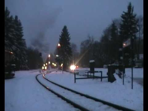 Maybe the Best Departure of a Steam Train of the HSB from Drei Annen Hohne, Germany