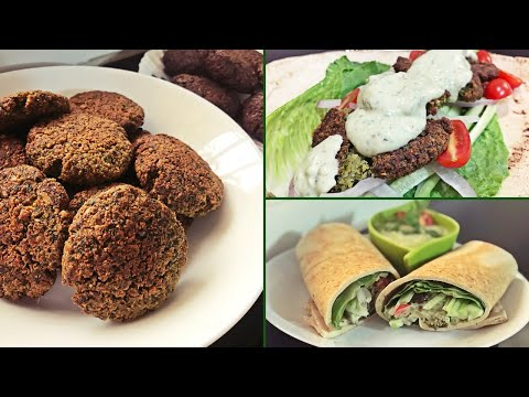Baked FALAFEL Sandwich with a Dip