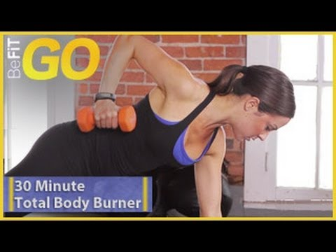 befit - BeFit GO   30 Min Total Body Burner is an explosive, fat-burning cardio circuit-training routine set to some of today's hottest workout music, that uses a sp...