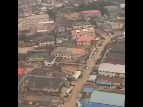 Watch This Bird Eye View Of Lagos From An Airplane
