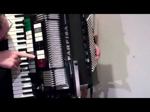 FARFISA TRANSIVOX Piano Accordion with built in Farfisa Organ