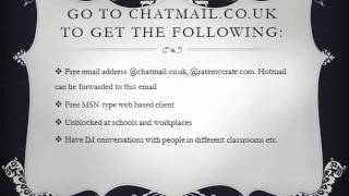 Go to chatmail.co.uk to get a lookalike hotmail and MSN thing that is unblocked at school!!!