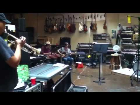 "Jon Rauhouse rehearsal - ""Roaches to Room Service"""