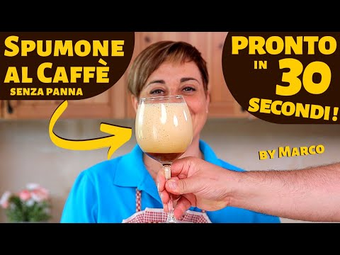 SPUMONE AL CAFFÈ Pronto in 30 Secondi - Ricetta Facile Senza Latte e Senza Panna ( by Marco )