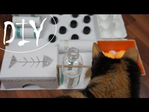 Katzenspielzeug aus Recyclingmaterial ~ (DIY/Tutori ...
