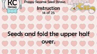 KC Poppy Sesame Seed Straws YouTube video