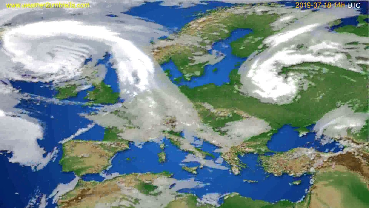 Cloud forecast Europe // modelrun: 00h UTC 2019-07-16