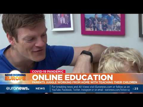 Online education Parents juggle working from home with teaching their children