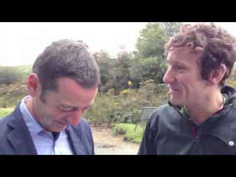Ned interviews Kenny van Vlaminick at the Tour of Britain 2013