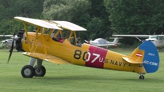 Stearman A75N1 at the Music, Grill & Fly at Airfield Kapfenberg.private ownerAirfield Kapfenberg  LOGK➤ https://www.facebook.com/flugplatz.kapfenberglogk24.06.2017Boeing Stearman A75N1OE-CBMLatest pictures and news also available on➤ http://www.facebook.com/aviationvideosgraz➤ http://www.twitter.com/aviation_graz➤ http://aviationvideosgraz.jimdo.com/equipment📷 Panasonic HC-V777EG-K, Velbon Videomate 638 tripod, 💿 Magix Video Deluxe 2016Recorded in Full HD  1920x1080 50fps#Boeing #Stearman*****Welcome to my YouTube channel AVIATION VIDEOS which is focused on planespotting around the world. Minimum of 4 daily uploads:1 video from my home airport Graz, Austria1 video from an international airport like Vienna, Zurich or Amsterdam1 video from an national airport like Graz or Vienna1 video of General & Business AviationFrom time to time there will be some specials like trip reports, full flight videos or tutorials.Feel free to subscribe, comment or like! If you have any questions send me an email📧 aviationvideos@gmx.at