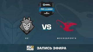 G2 vs mousesports - ESL Pro League S6 EU - de_cobblestone [yXo, CrystalMay]