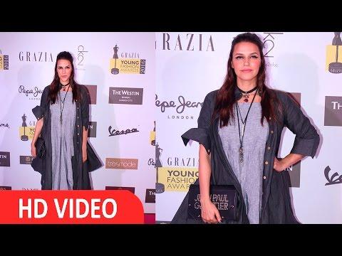 Neha Dhupia At Red Carpet Of Grazia Young Fashion Awards