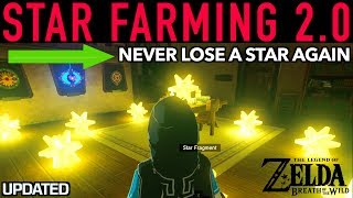This video is about star fragment farming and never losing a Star again in Zelda breath of the Wild! As you may know, stars fall after 9pm and and before 3 A.M (roughly). When morning arrives the star fragment will vanish if you don't retrieve it in time.  We go through how and where to farm stars and what to do when one falls from the sky. Chad Kelley left an awesome comment with a HUGE amazing tip on how to prevent EVER losing a star again if you happen to be in a situation where you won't make it in time! Enjoy!How to use Star Fragments:Star Fragments can be used in a variety of ways including adding them as an ingredient in recipes. The best way to use them are when upgrading Link's armor at the fairy fountains.  These special rare materials in botw can be sold for 300 Rupees if you would like to profit on them after upgrading of course.  ARMOR SETS THAT NEED THEM FOR MAX UPGRADE* Circlets from the shop in Gerudo Town* The Ancient armor set * Amiibo outfits   __________________________________________________CHECK OUT MY OTHER COOL VIDEOS! Please make sure to like, comment, share and subscribe :) HOW TO FARM RARE ITEMS IN BREATH OF THE WILD:https://youtu.be/cVfWZwunjCQ?list=PLTeo8k1SzTr16dLY162pK9Yd0FTzpv4-G__________________________________________________-GEAR USED TO MAKE THIS VIDEO:1) El Gato HD60 Game Capture Card - http://amzn.to/2rUljEY2) iMac 27 Inch Retina 5K - http://amzn.to/2rBMNQJ3) Zelda: Breath of the Wild - http://amzn.to/2rBLi57DISCLAIMER: This video and description has amazon affiliate links, and this means that if you click on one of the product links above which shows the gear I used to make this video with, I'll get a small commission. This helps support my channel and allows me to grow bigger and better and continue making the best game content I can! Thank you for the support in advance! Cheers!
