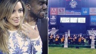How Kanye West Proposed To Kim Kardashian! | POPSUGAR News