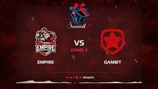 Team Empire против Gambit, Третья карта, Квалификация на Dota Summit 8