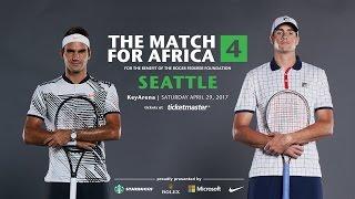 Roger Federer took on John Isner in a intense and comedic singles match for Roger Federer's foundation/charity, Match for Africa...