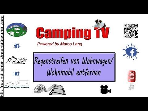 Regenstreifen von Wohnwagen/Wohnmobil entfernen
