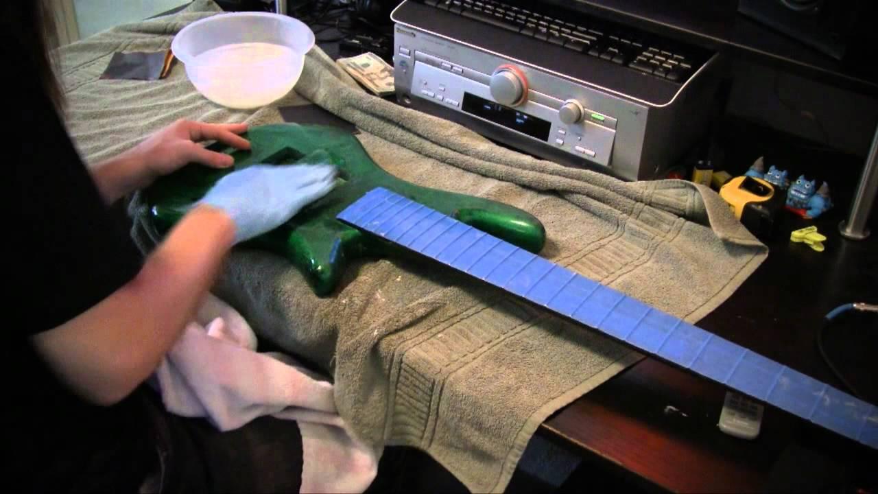Custom Painting an Electric Bass Guitar